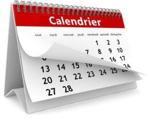Dates des cures de jeûne