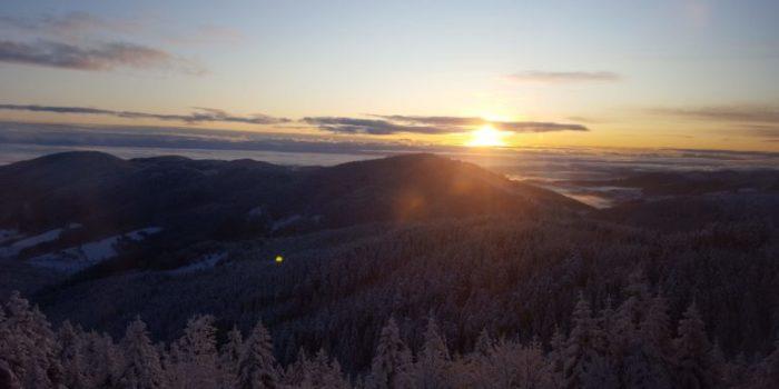 Levée du soleil au Mont Besset